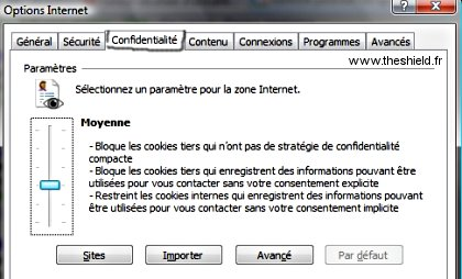 Cookies - confidentialité